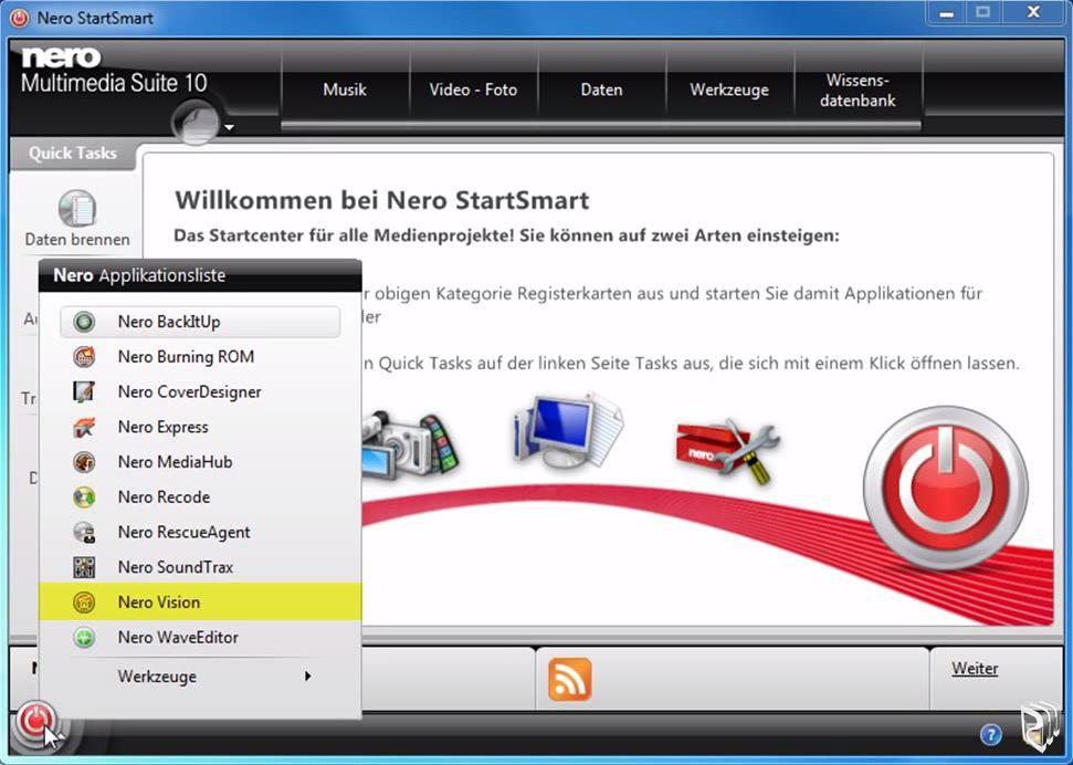 Nero StartSmart 10 - скачать бесплатно русскую версию