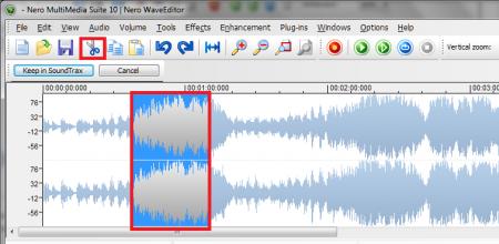 Как обрезать аудио-дорожку при помощи приложения Nero